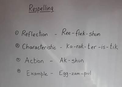 TEFL Tales – Respelling